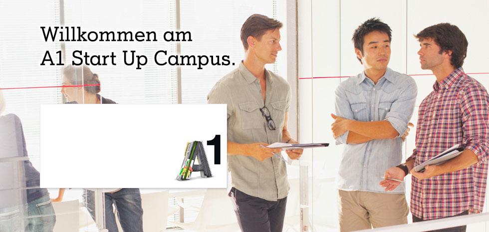 Der A1 Start Up Campus - A1 unterstützt Österreichs Jungunternehmen.